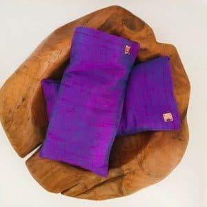 Augenkissen aus Seide mit Lavendel und Leinsamen