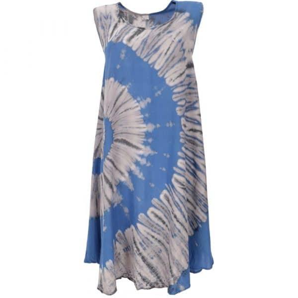 Sommerkleid im Batik Look blau