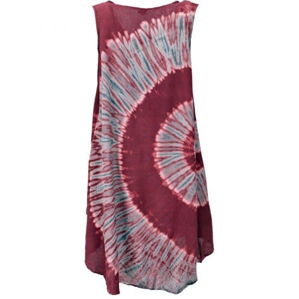 Strandkleid Batik bordeaux Rückseite