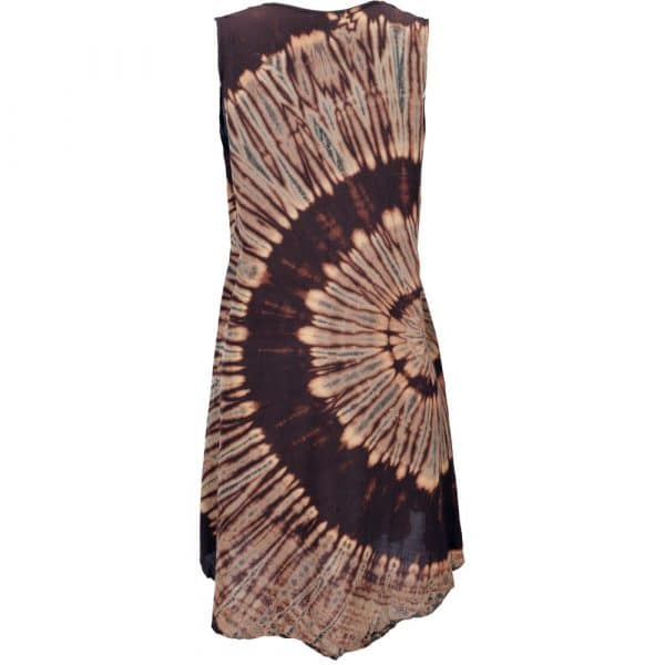 Batik Sommertop in Brauntönen Rückseite