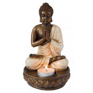 Buddha mit Teelicht aus Resin