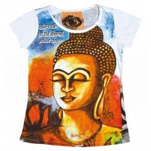 Hippie Shirt Damen mit Buddha Motiv Ansicht vorne