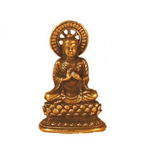 Buddha messing lehrend 3cm