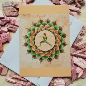 Mandala Yoga Karte braun von Dalaya