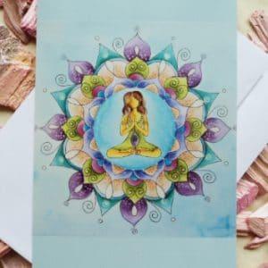 Mandala Yoga Karte lila von Dalaya