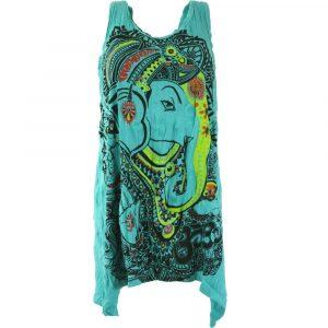Ganesha Shirt cooles Minikleid im Krinkel Look