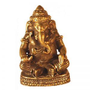 Ganesha messing sitzend 3cm