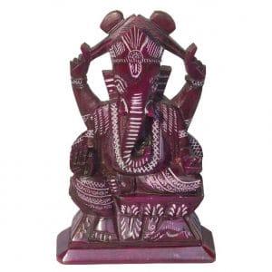 Ganesha aus Speckstein lila