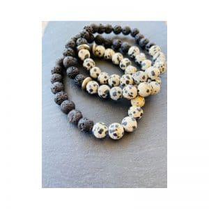 Armband Lava und dalmatinischer Jasper