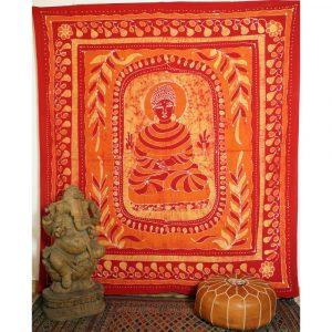 Batik Wandbehang mit Buddha Motiv