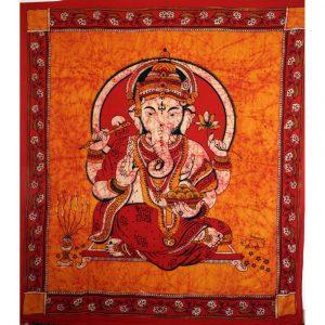 Batik Wandbehang aus Indien mit Ganesha Motiv