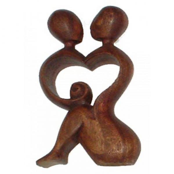 Feng Shui Holzfigur Liebe