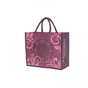 Jutetasche purple dream fuchsia aubergine