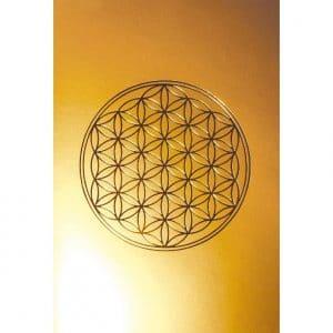 Karte Blume des Lebens gold