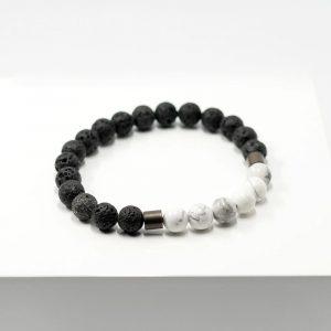 Lava und Howlith Armband
