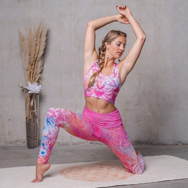 Yoga Legging und Bra Bravery pink Blume des Lebens