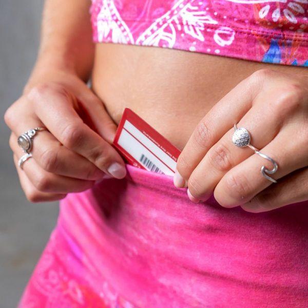 Yoga Legging Bravery pink kleine Tasche am Saum