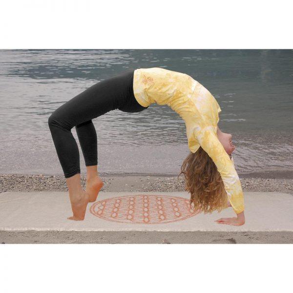 Legging schwarz lang für Yoga