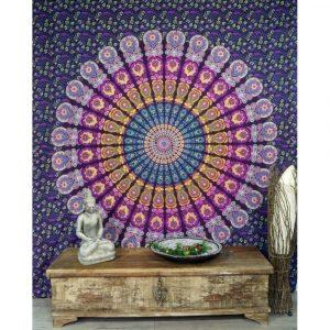 Mandala Wandbehang blau lila