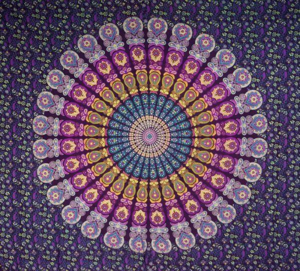 Tagesdecke Indien oder Mandala Wandbehang