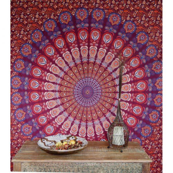 Mandala Wandbehang rot lila