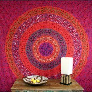 Mandala Wandbehang rot