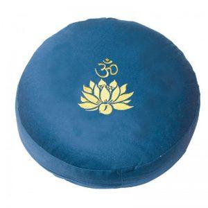 Meditationskissen Om Lotus blau