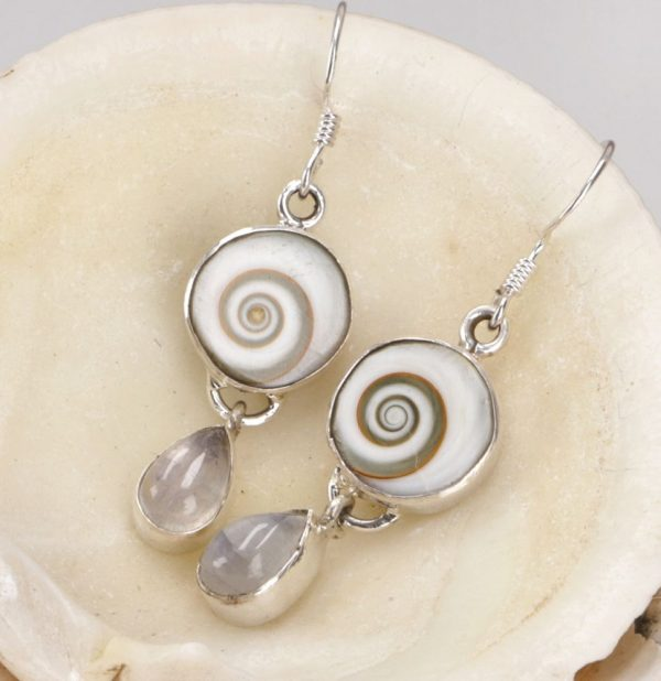 Ohrhänger Shiva Auge und Mondstein