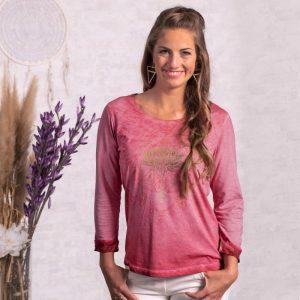 Spirit of Om Shirt Peaceful Lotus pink-orchidee