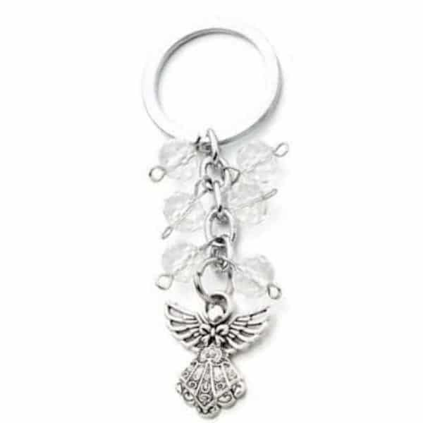 Schluesselanhaenger Engel mit Glaskristallen