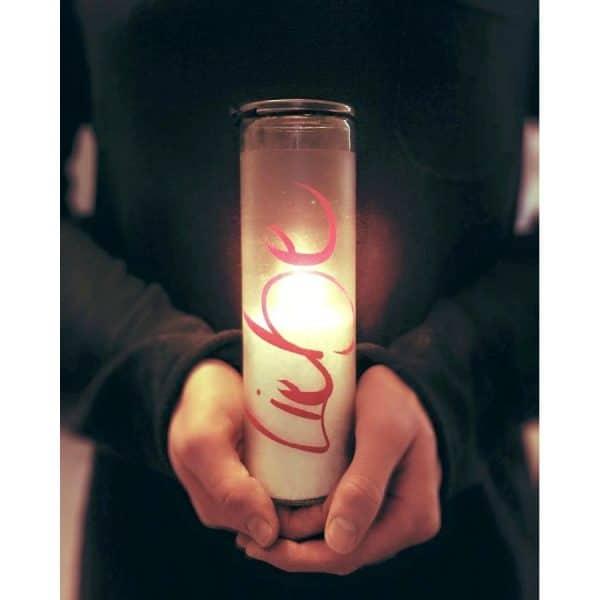 Sign Kerze Liebe brennend