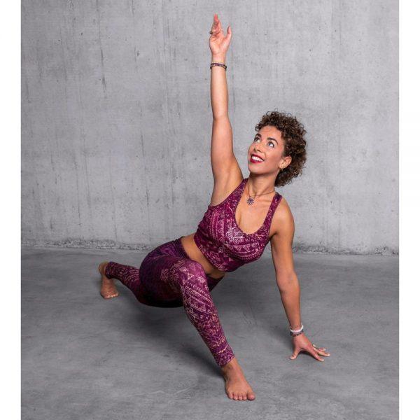 Spirit of Om Yoga Bra und Legging Buddhi amethyst gemustert