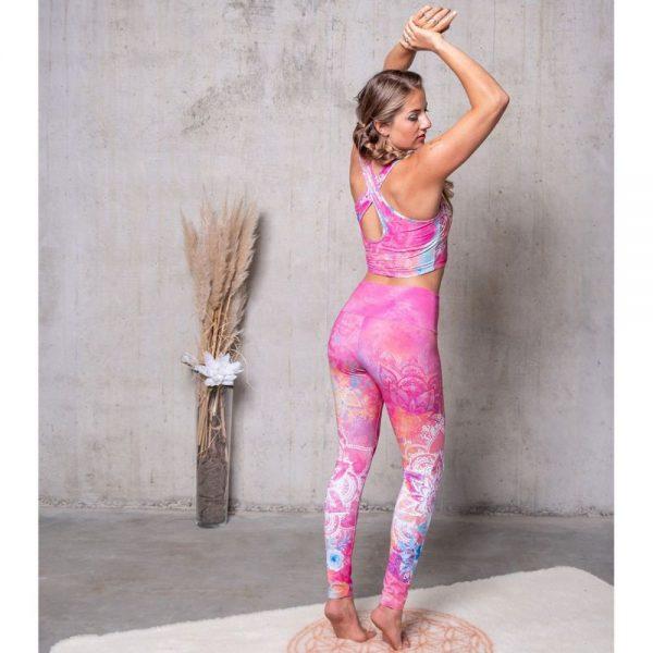 Spirit of Om Yoga Bra und Legging Bravery pink bunt Rueckseite