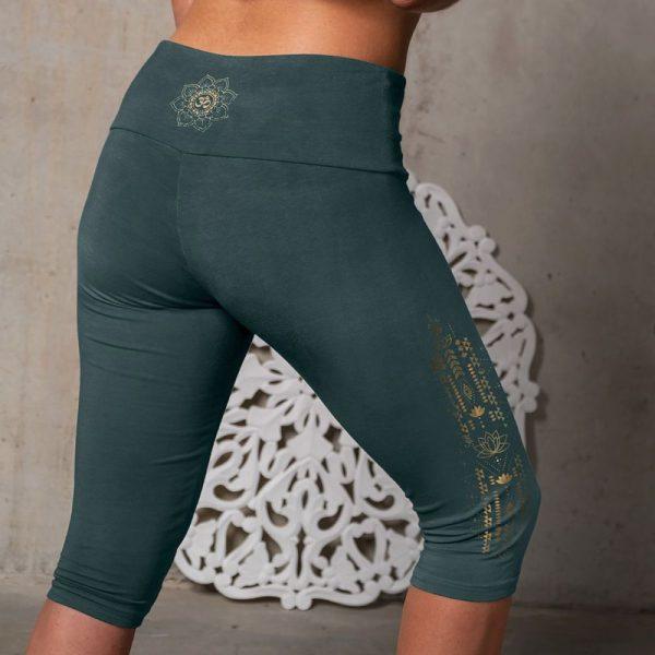 Yoga Legging Capri smaragd
