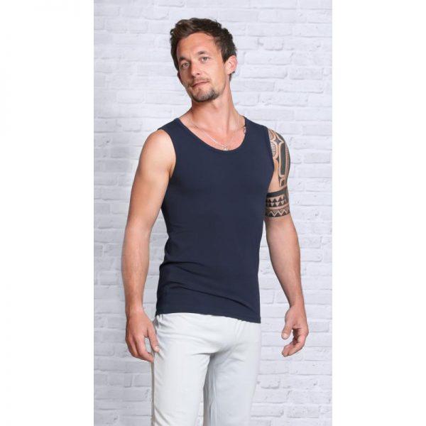 Spirit of Om Bambus Shirt Herren dunkelblau