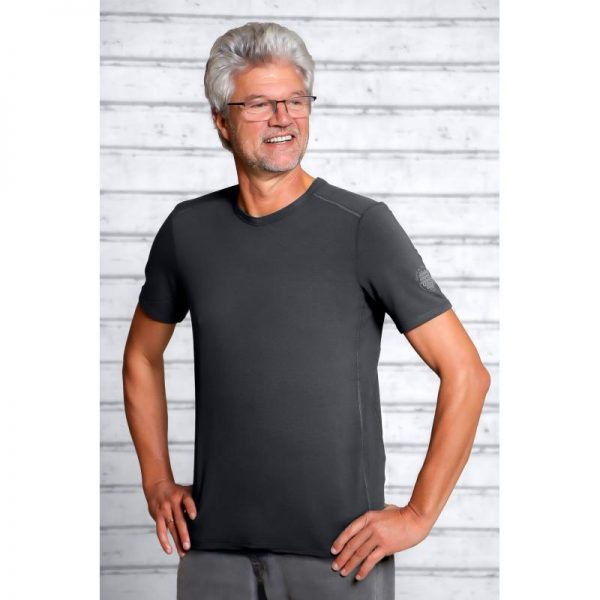 Spirit of Om Bambus Shirt kurzarm Herren turmalingrau