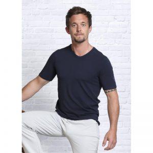 Spirit of Om Bambus Shirt kurzarm Herren dunkelblau