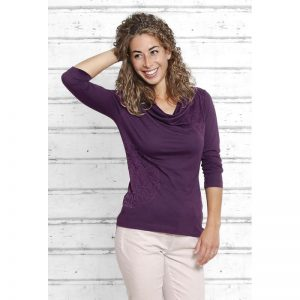 Spirit of Om Shirt Surya aubergine