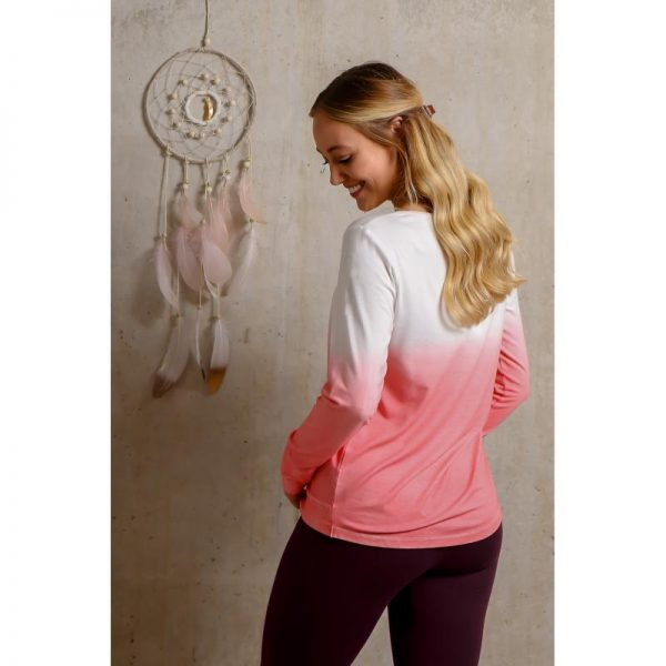 Spirit of Om langarm Shirt Shakti flamingo Rücken