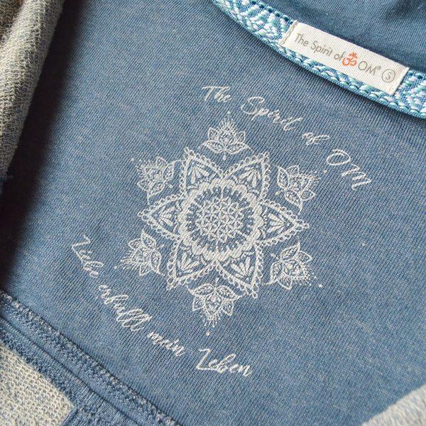 Spirit of Om Sweatjacke jeansblau Innendruck