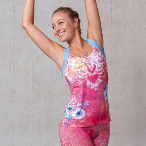 Spirit of Om Yogatop Bravery pink gemustert