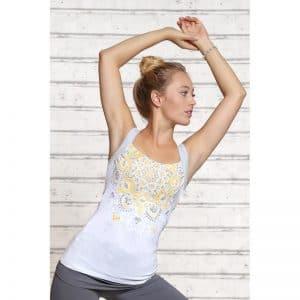 Spirit of OM Yogatop silber weiss