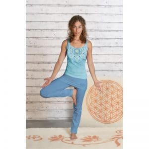 Spirit of OM Yogatop tropical blue Asana