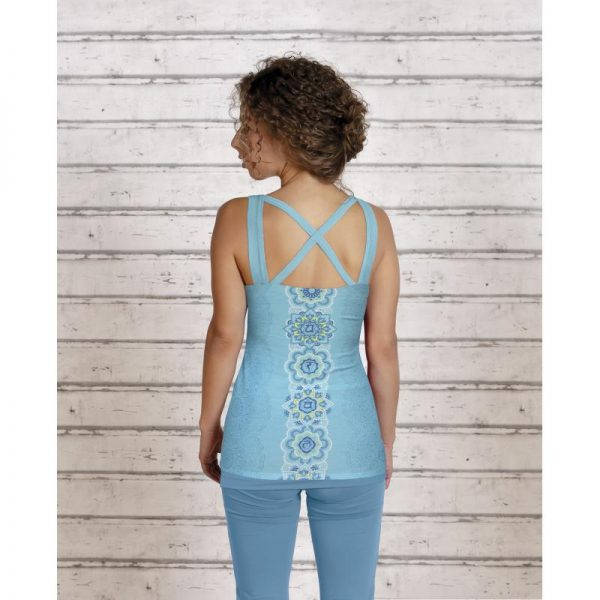 Spirit of OM Yogatop tropical blue Ruecken