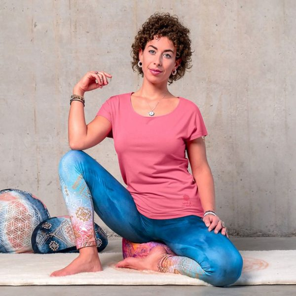 Spirit of Om Shirt Triangle peach mit Legging indigo