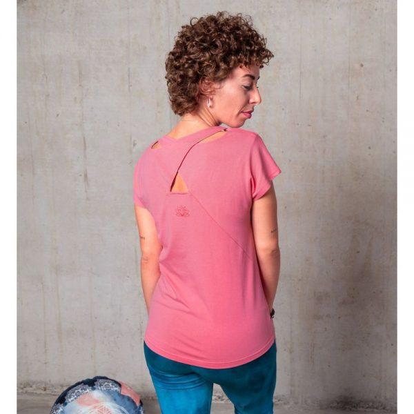 Spirit of Om Shirt Triangle peach Rueckenansicht