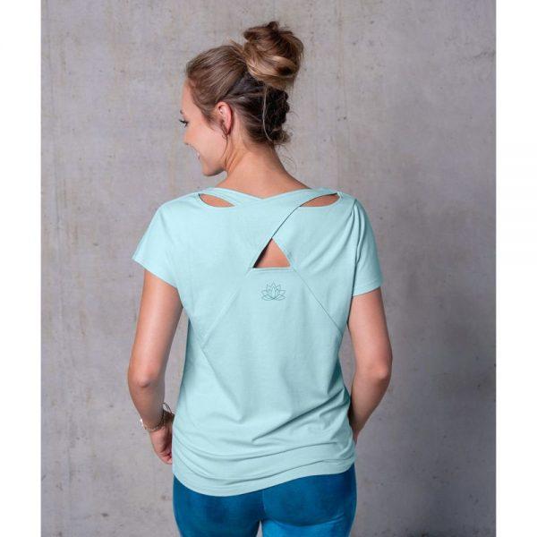Spirit of Om Shirt Triangle blue breeze Rueckenansicht