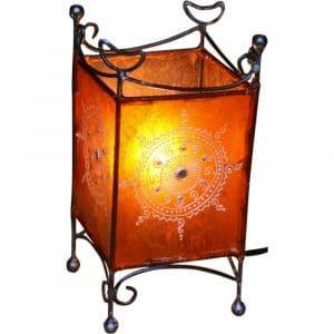 Hennalampe Tischleuchte orange
