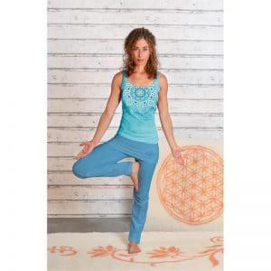 Yogahose mit Rockbund aloha blau
